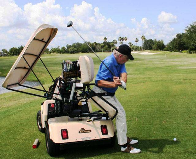 Putting Single Rider Golf Cart on single rider golf car, single passenger golf carts, solo rider golf carts,