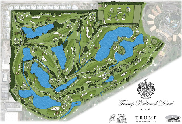... redesigned Blue Monster golf course at Trump National Doral Miami